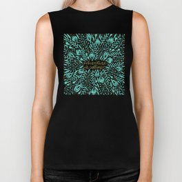 Adventure is Calling – Turquoise & Gold Palette Biker Tank