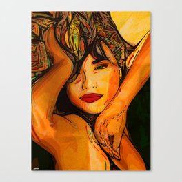 A taste of passion. Canvas Print