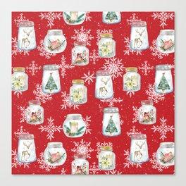 Christmas Jars Canvas Print