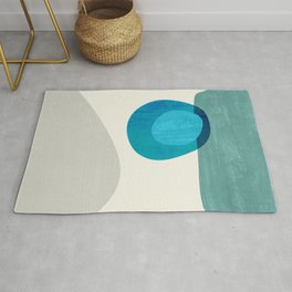 Stacking Pebbles Blue Rug