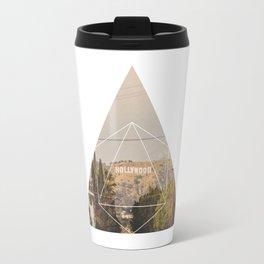 Hollywood Sign - Geometric Photography Travel Mug