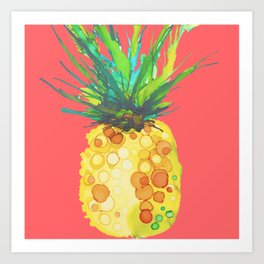 Pineapple Mango Daiquiri Art Print