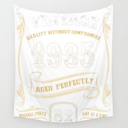 82nd-Birthday-Gift-Gold-Vintage-1935-Aged-Perfectly Wall Tapestry