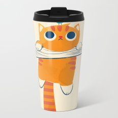 Fat cat, little bird Metal Travel Mug
