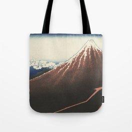 Rainstorm at the foot of the mountain - Katsushika Hokusai (1829-1833) Tote Bag