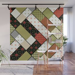 Folklore, patchwork 1 Wall Mural
