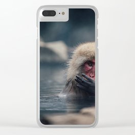 Hot Spring Snow Monkey Clear iPhone Case