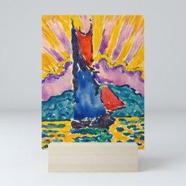 "Paul Signac ""Coucher de soleil"" Mini Art Print"