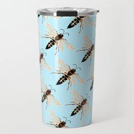 Wasp Swarm Pattern Travel Mug