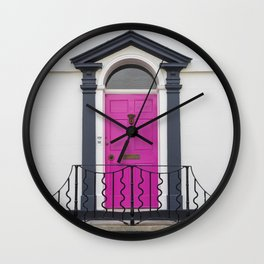 in through the pink door… a splash of colour for the front entrance door Wall Clock