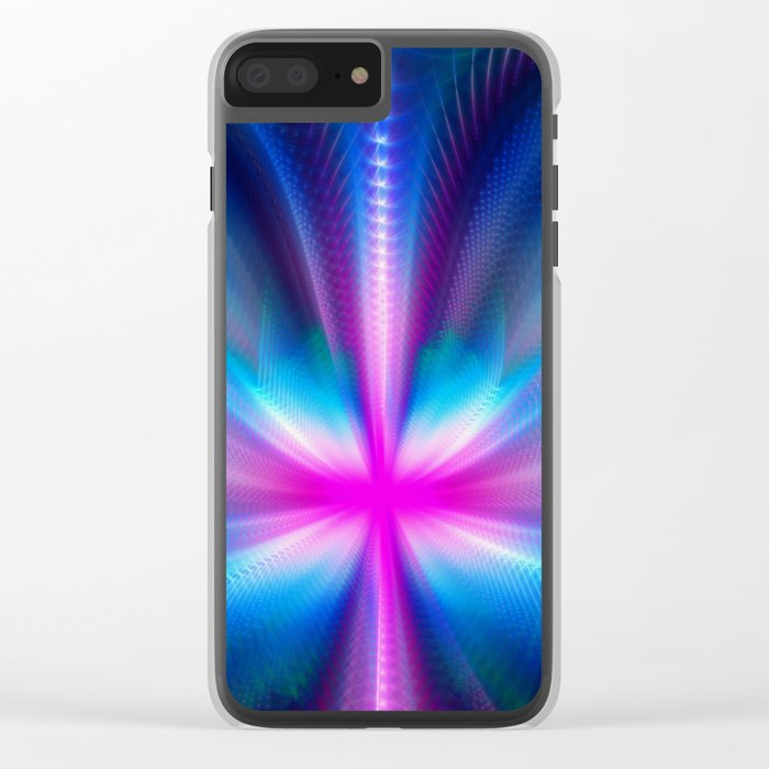 The Neon Butterfly Clear iPhone Case