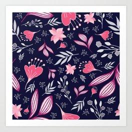 Spring Flowers Style C Art Print
