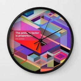 Proportions Wall Clock