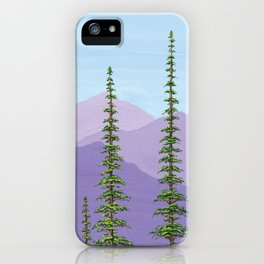 Purple and Pine iPhone Case