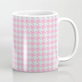 Pink & Green Pixelated Houndstooth Pattern Coffee Mug