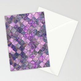 Quatrefoil Moroccan Pattern Lilac Fluorite Stationery Cards