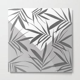 Envelope leaves decor. black. white. grey. 2. Metal Print