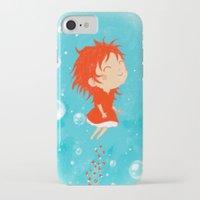 ponyo iPhone & iPod Cases featuring Ponyo by Peerro