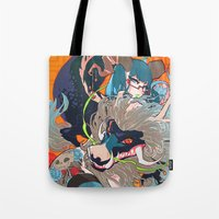 barachan Tote Bags featuring hyeolyeon by barachan