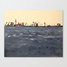 Olas Canvas Print