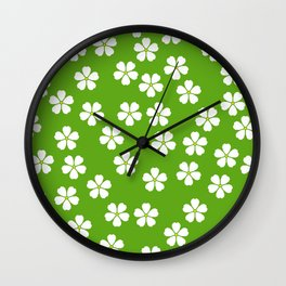 Daisies in the grass Wall Clock