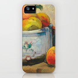 Paul Gauguin - Still Life with Peaches (1889) iPhone Case
