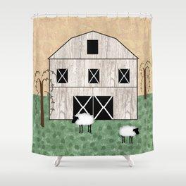 Primitive Barn Shower Curtain