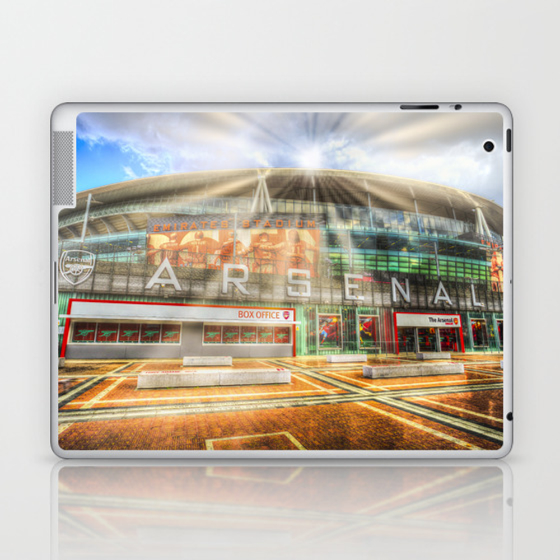 Arsenal Football Club Emirates Stadium London Sun … Laptop & Ipad Skin by Davidpyatt LSK8797605