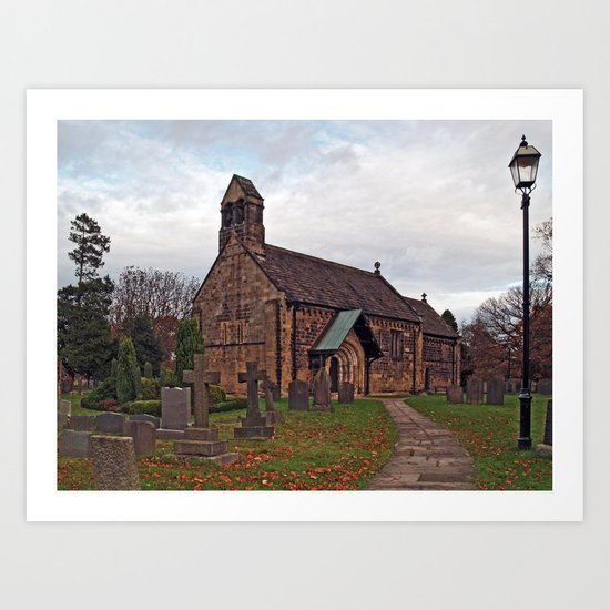 St John the Baptist, Adel Art Print