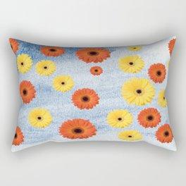 Orange & Yellow Gerberas Rectangular Pillow