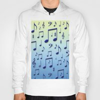 music notes Hoodies featuring Music notes by Gaspar Avila