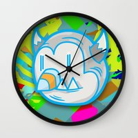 devil Wall Clocks featuring Devil by Trent Call