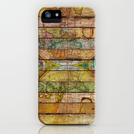 Around the World in Thirteen Maps iPhone Case