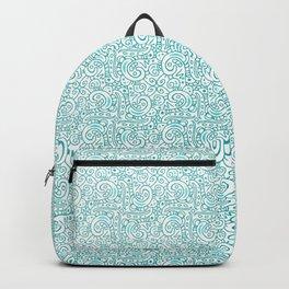 Waves / ocean blue / seamless repeating pattern Backpack