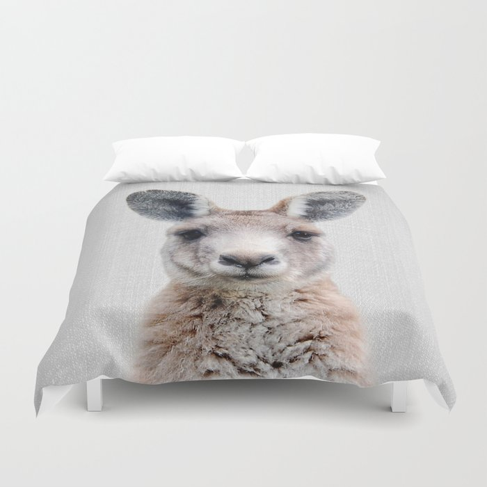 Kangaroo - Colorful Duvet Cover