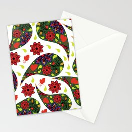 Paisley pattern #4S Stationery Cards