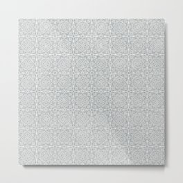 Etched Tile | ultimate gray Metal Print