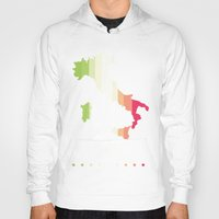 italy Hoodies featuring Italy by Stormer