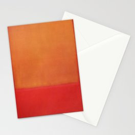 1954 Ochre Red on Red by Mark Rothko HD Stationery Cards