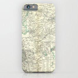 Vintage Map - Spruner-Menke Handatlas (1880) - 57 France, 1815 - 1871 iPhone Case