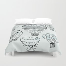 dreaming of hot air balloons Duvet Cover