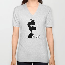 She Is Swimming In a Sea of Other People's Expectations Unisex V-Neck