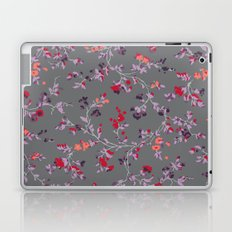 floral vines - dark grey and lilacs Laptop & iPad Skin