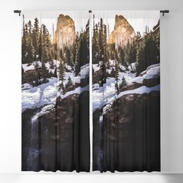 Cascade Mountain Waterfall Adventure - Nature Photography Blackout Curtain