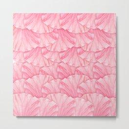 Gentle Pink hibiscus Flower Petal Pattern Metal Print