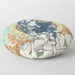 SMOKE GEOMETRY Floor Pillow