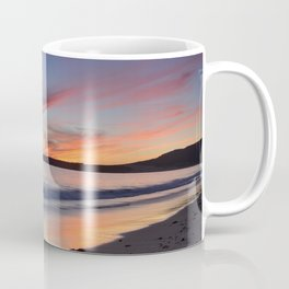 """Bolonia beach at sunset"" Coffee Mug"