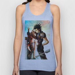 Zack and Aerith Unisex Tank Top