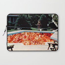 Pizza Pool Party Collage Laptop Sleeve