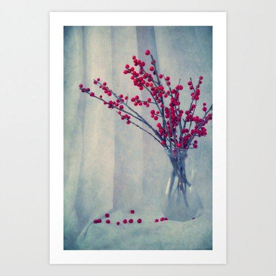 red pearls Art Print